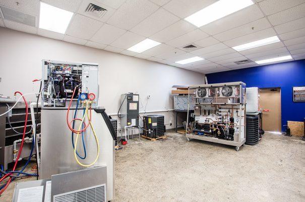 Heating Ventilation and Air Conditioning (HVAC) Lab 2 at FCC Boynton Beach Vocational School Campus