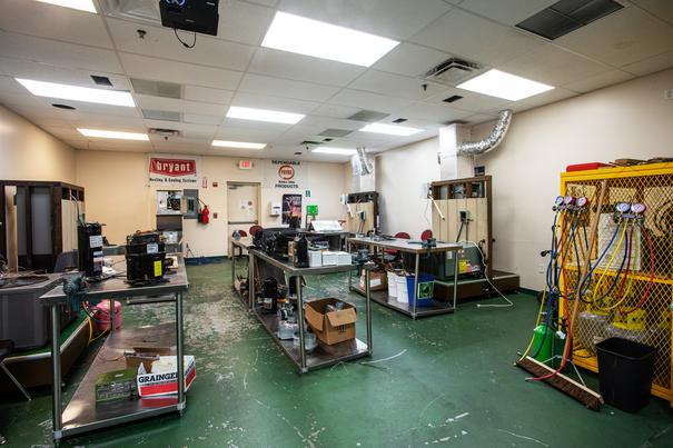 Heating Ventilation and Air Conditioning (HVAC) Lab 2 at FCC Hialeah Vocational School Campus