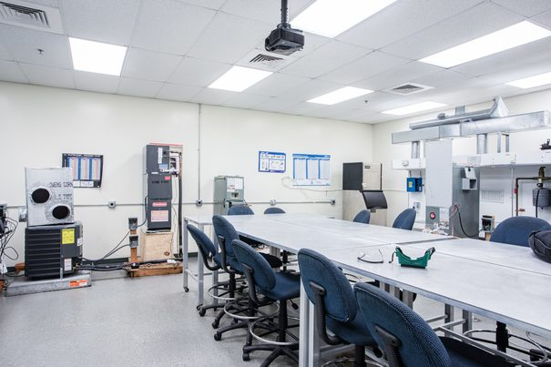 Heating Ventilation and Air Conditioning (HVAC) Lab 1 at FCC Margate Vocational School Campus