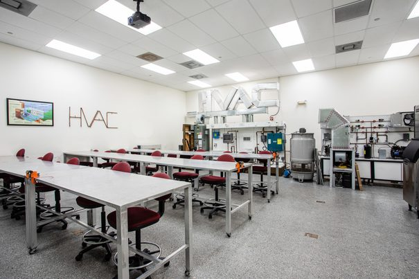 Heating Ventilation and Air Conditioning (HVAC) Lab 1 at FCC Pembroke Pines Vocational School Campus Florida Career College